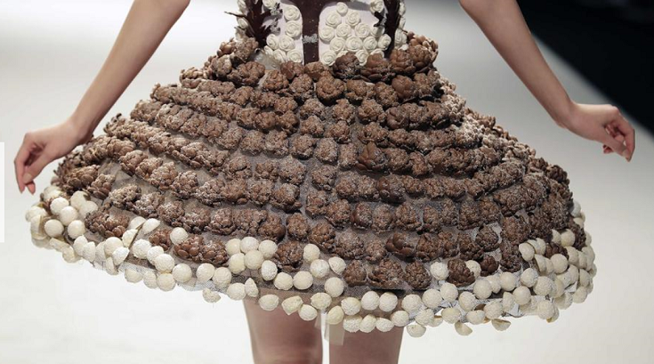 Chocolate Pizza Dress at Beirut Cooking Festival.PNG